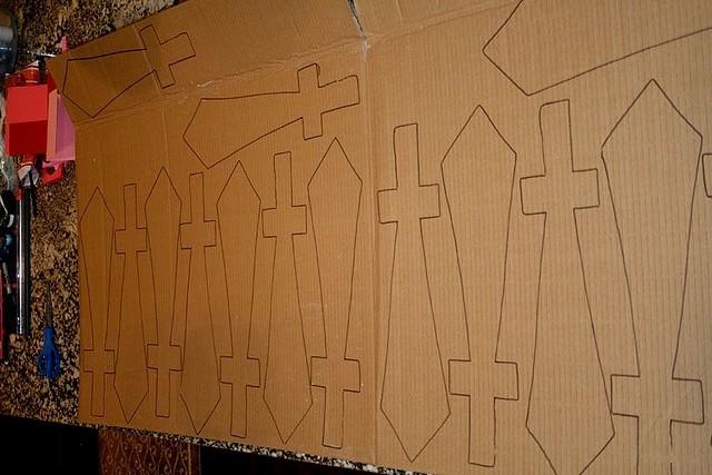 меч из картона как сделать