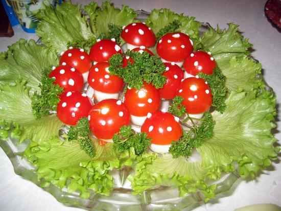 мухоморы из яиц рецепт