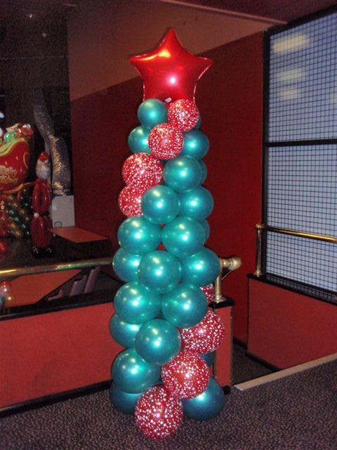 Как сделать елку из воздушных шаров