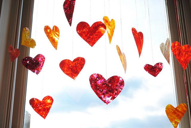 сердце гирлянда-подвески на день Валентина