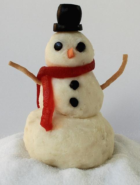 картофельный снеговик рецепт