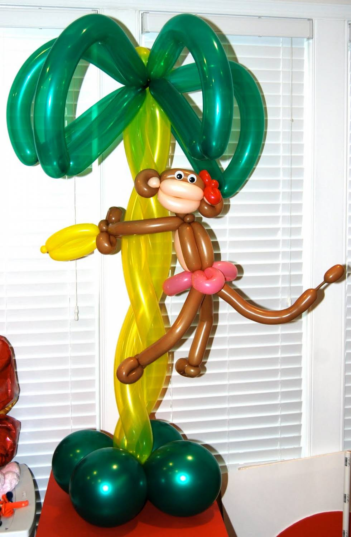 пальма из воздушных шариков как сделать