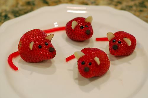 мышки из клубники рецепт