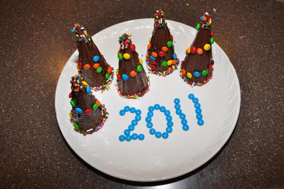 Сладкие новогодние елочки рецепт