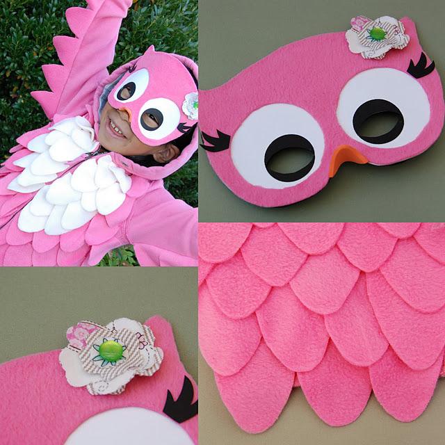 костюм розовой совы