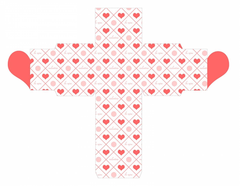 коробочка сердечко + шаблон