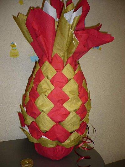 ананас из салфеток как сделать