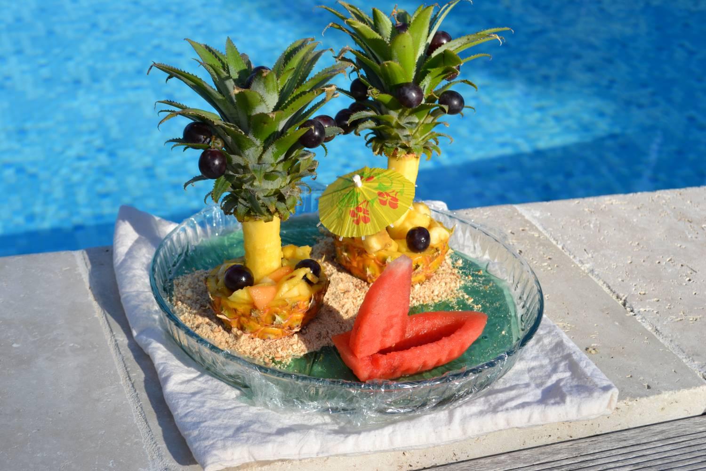 Фруктовый десерт Ананосовый рай