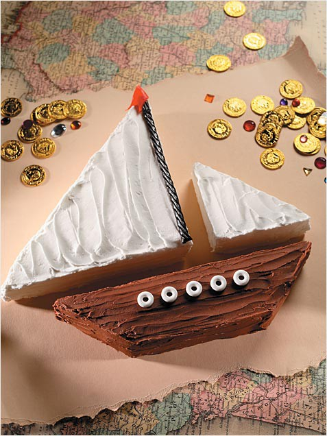 торт корабль (парусник) рецепт