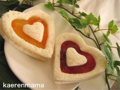 сендвичи в виде сердца