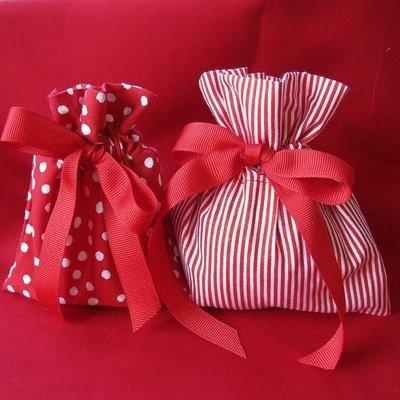 подарки в мешочках