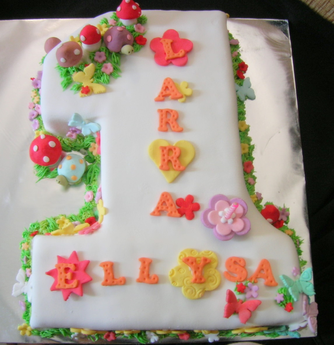 торт Единичка на один год ребенку - идеи + шаблон