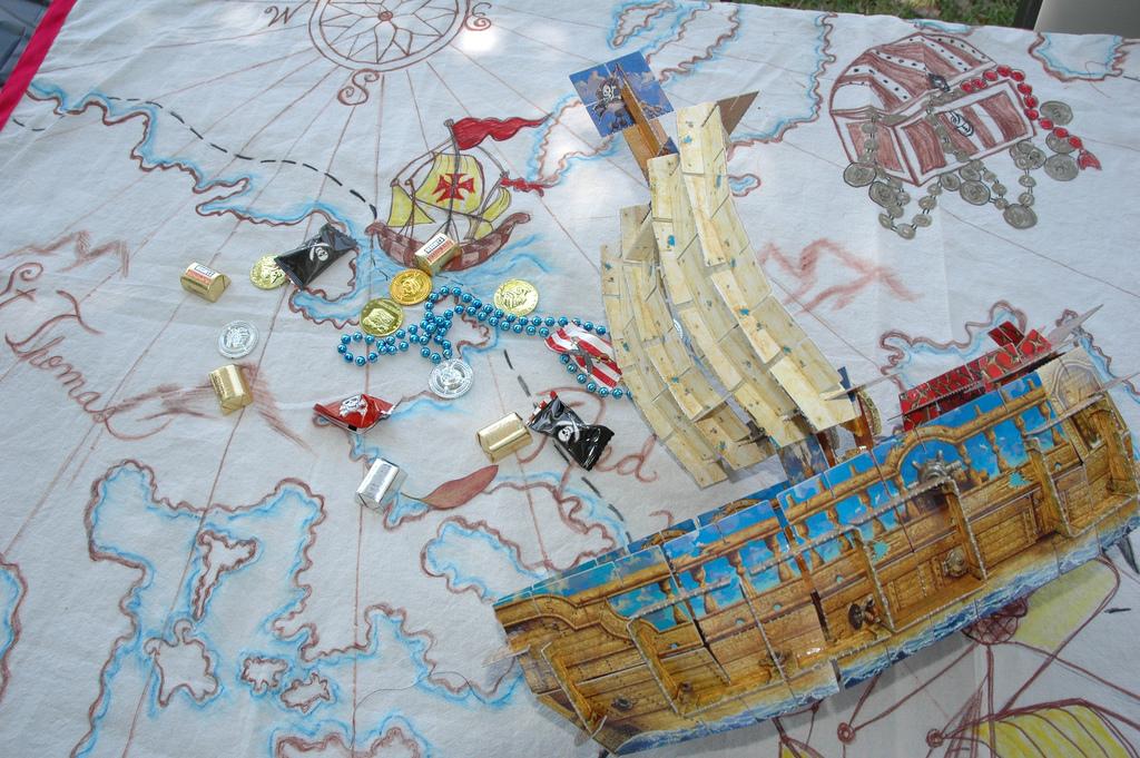 пиратское оформление стола идеи