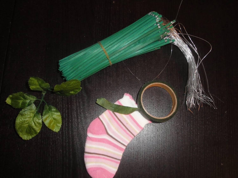 букет из носочков - подарок для малыша