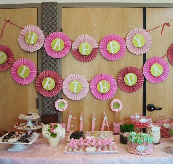 веерные круги как украсиать на день рождения
