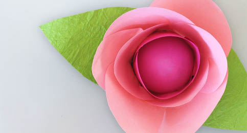 украшение для яйца - бумажный цветок