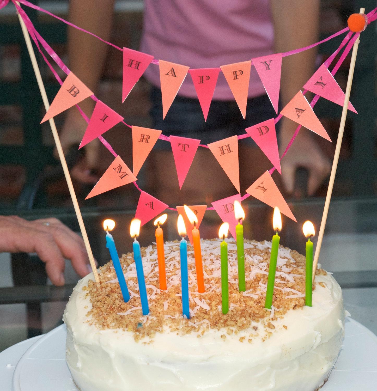 гирлянда для торта как сделать