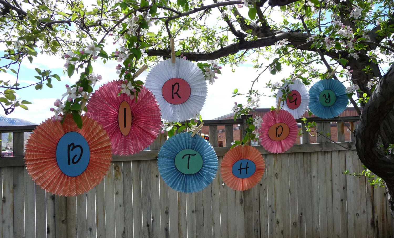 веерные круги как украсить на день рождение