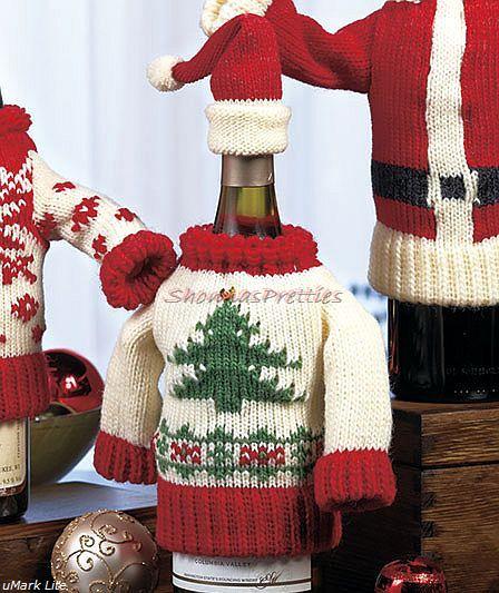 Новогодний костюм для бутылки