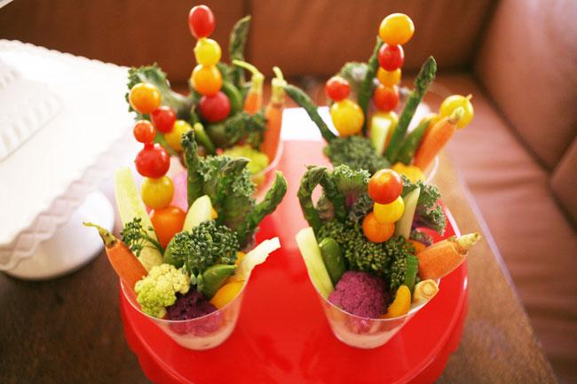дип с овощами