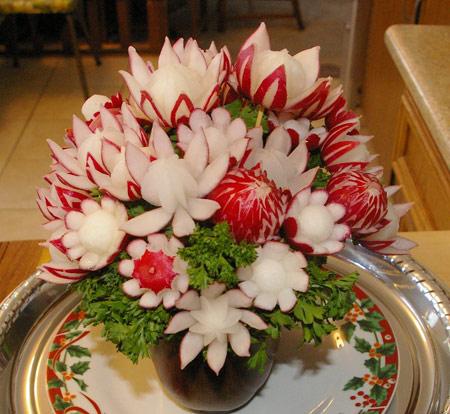букет из овощей - цветы из редиса