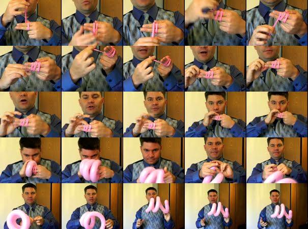 как сделать из шарика спираль