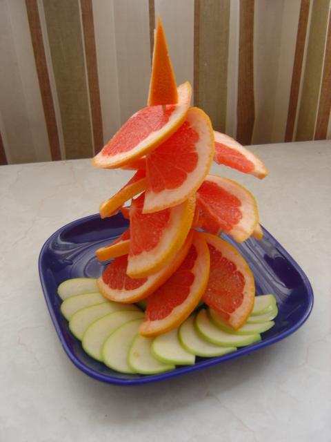 елочка из грепфрута