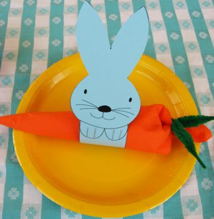 кольца для салфеток кролики + шаблон