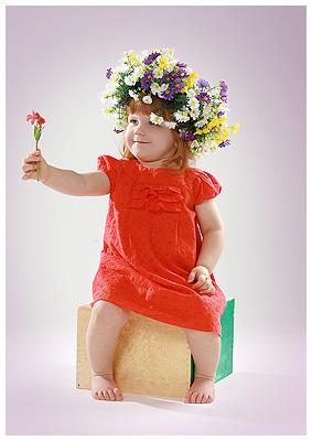 Как плести венок из цветов