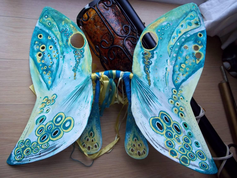 как сделать крылья для костюма феи или бабочки