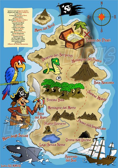 Пиратская карта своими руками