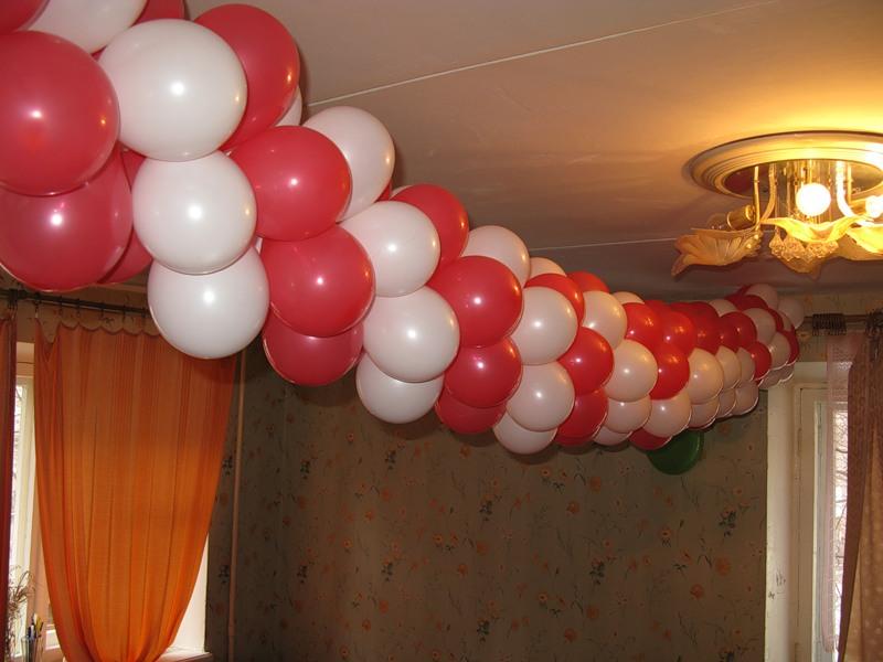 гирлянда из воздушных шариков своими руками