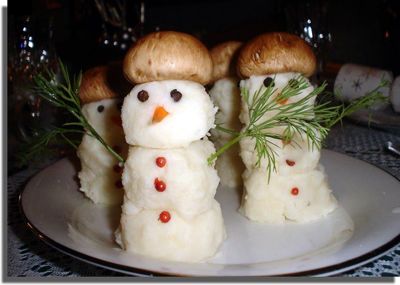 Снеговики из картофеля рецепт