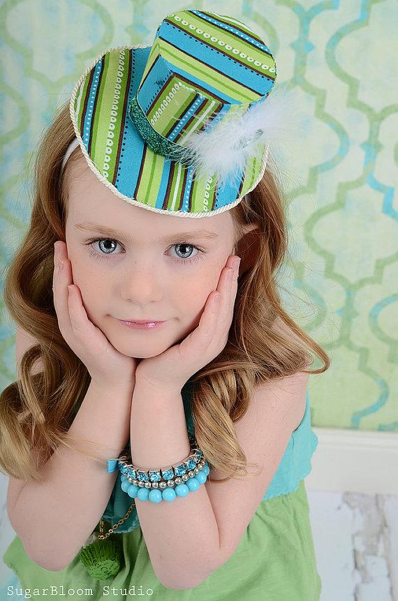 карнавальная мини шляпка своими руками