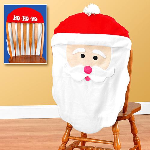 новогоднее украшение стульев