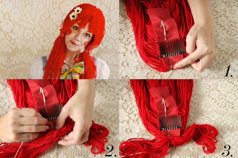 Из чего можно сделать парик своими руками