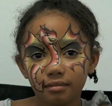 Аквагрим «Дракон» для мальчиков и девочек