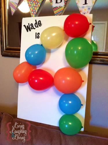 «Воздушный» декор на день рождения - идея украшения ко дню рождения