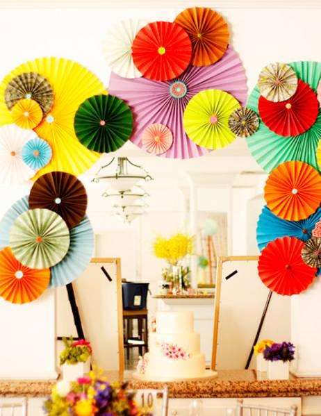 Бумажные зонтики-вертушки