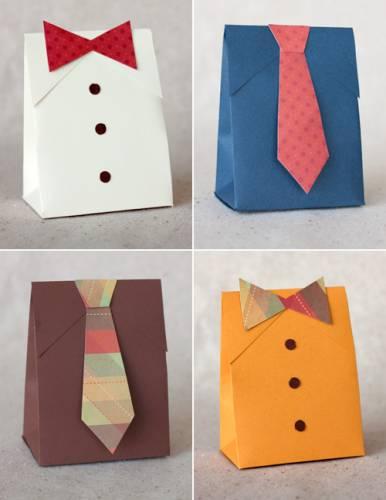 Коробка для подарка «Мужская рубашка с галстуком»