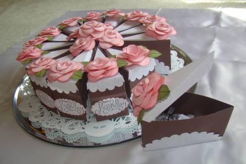 Бумажный торт (бумажный торт-сюрприз)