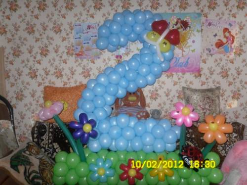 Объемная «Цифра» для любого дня рождения и юбилея!