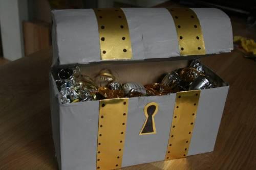 Как сделать пиратский сундук с сокровищами