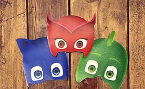Набор масок героев м/с «Герои в масках»: Кэтбоя, Алетт, Гекко, Ромео, Ночного Ниндзя и Лунной девочки