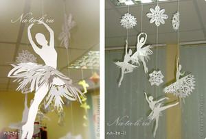 Снежинки-балеринки (+ шаблоны для печати)