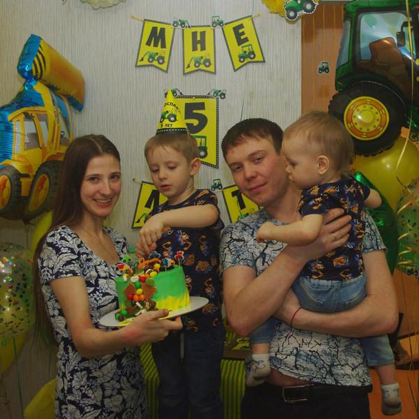 День рождения Ярославу 5 лет в стиле Трактор