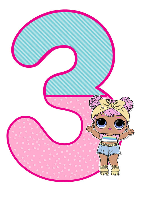 number 3 lol doll printable