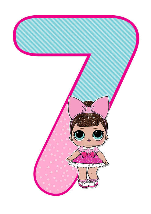 number 7 lol doll printable