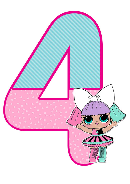 number 4 lol doll printable
