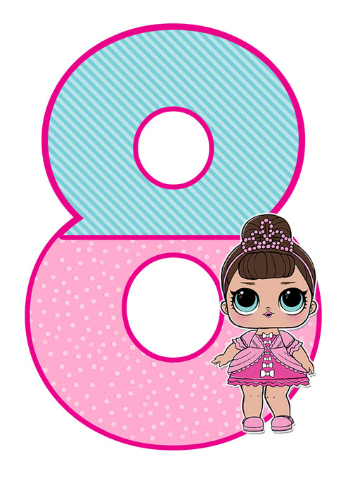 number 8 lol doll printable